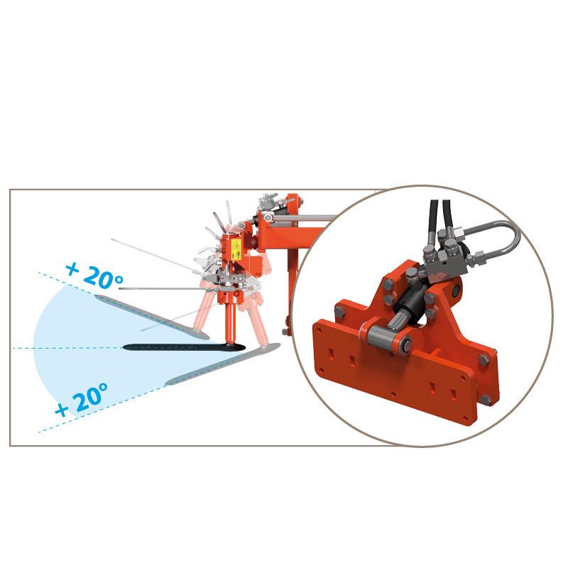 Hydraulic blade tilting system