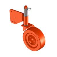 Kit ruote sterzanti in ferro in sostituzione del rullo