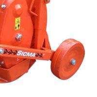 Coppia ruote laterali posteriori in ferro