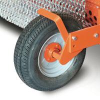 Kit ruote sterzanti in gomma in sostituzione del rullo