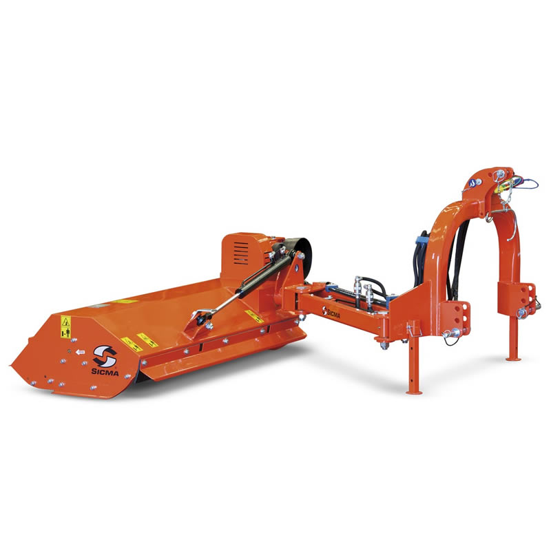 Shifting, for roadside banks, light Side flail mower for power from 20 up to 30 HP